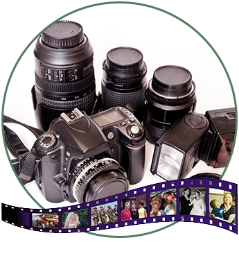 Video Rental Equipment and Photo Collage